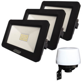 20W LED Floodlight and Day/Night Sensor Combo